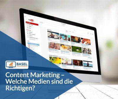 Content Marketing – Welche Medien sind die Richtigen?