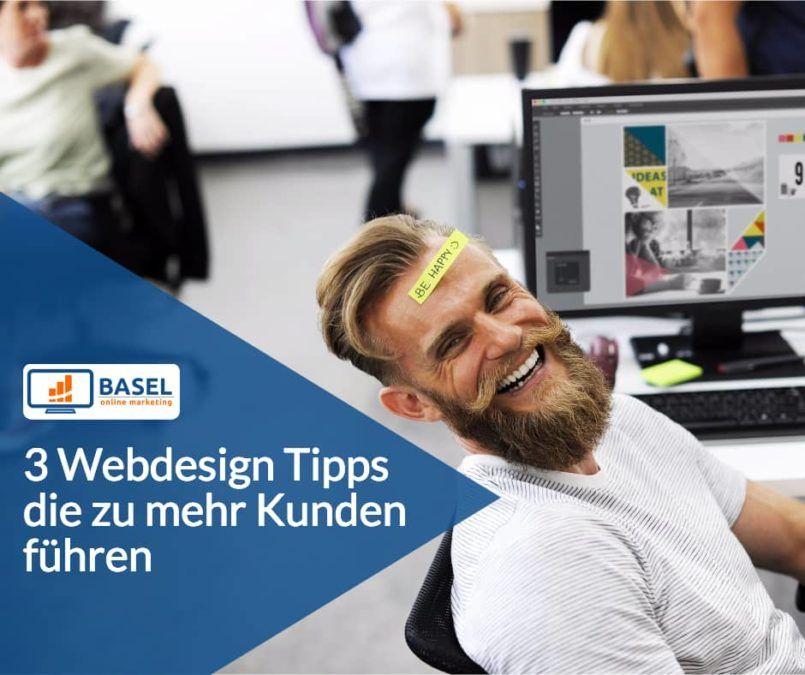 Webdesign Tipps: Mehr Kunden über Website gewinnen