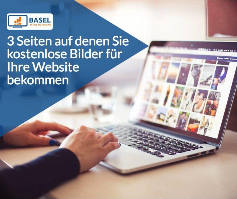 3 Seiten auf denen Sie kostenlose Bilder für Ihre Website bekommen